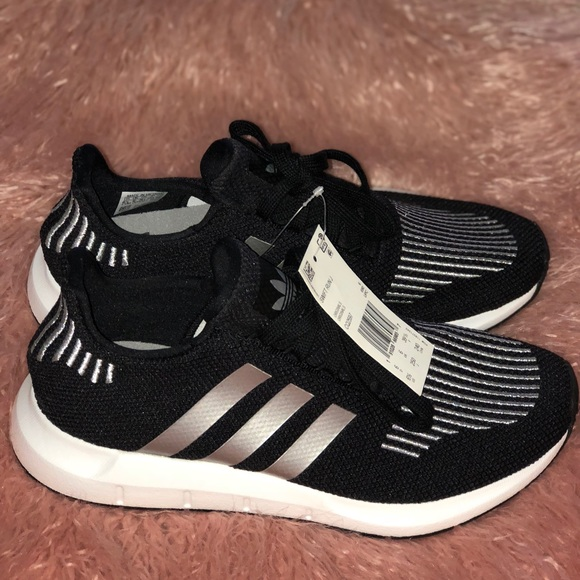 best sneakers 4efd4 7041c ADIDAS swift run black silver brand new